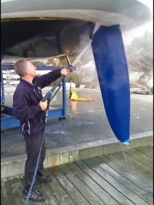 Båtrengjøring